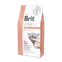 BRIT GF Veterinary Diet Renal, Ou și Mazăre, dietă veterinară pisici, hrană uscată fără cereale, afecțiuni renale, 5kg