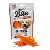 BRIT Let's Bite Chewbones Calcium Sticks with Chicken Fillet, Pui, recompense fără cereale câini, oase cu carne, 300g