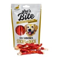 BRIT Let's Bite Chewbones Sticks with Duck, Rață, recompense fără cereale câini, oase cu carne, 80g