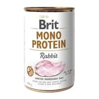 BRIT Mono Protein, Iepure, conservă hrană umedă monoproteică fără cereale câini, (pate), 400g