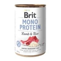 BRIT Mono Protein, Miel cu Orez brun, conservă hrană umedă monoproteică conținut redus cereale câini, (pate), 400g