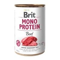 BRIT Mono Protein, Vită, conservă hrană umedă monoproteică fără cereale câini, (pate), 400g