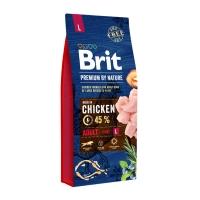 BRIT Premium By Nature Adult Large Breed, L, Pui, pachet economic hrană uscată câini, 15kg x 2