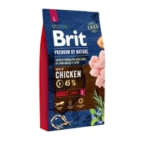 BRIT Premium By Nature Adult Large Breed, L, Pui, pachet economic hrană uscată câini, 8kg x 2