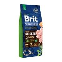 BRIT Premium By Nature Adult Giant Breed, XL, Pui, hrană uscată câini, 15kg