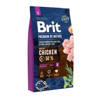 BRIT Premium By Nature Adult Small Breed, XS-S, Pui, pachet economic hrană uscată câini, 8kg x 2