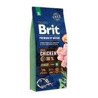 BRIT Premium By Nature Junior Giant Breed, XL, Pui, hrană uscată câini junior, 15kg