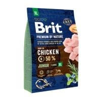 BRIT Premium By Nature Junior Giant Breed, XL, Pui, hrană uscată câini junior, 3kg