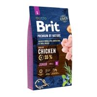 BRIT Premium By Nature Junior Small Breed, XS-S, Pui, pachet economic hrană uscată câini junior, 8kg x 2