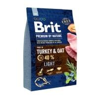 BRIT Premium By Nature Light, Curcan cu Ovăz, hrană uscată câini, managementul greutății, 3kg