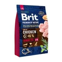 BRIT Premium By Nature Senior Large Breed, L-XL, Pui, hrană uscată câini senior, 3kg