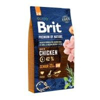 BRIT Premium By Nature Senior Small and Medium Breed, S-M, Pui, pachet economic hrană uscată câini senior, 8kg x 2