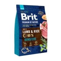 BRIT Premium By Nature Sensitive, Miel, hrană uscată câini, sensibilitați digestive, 3kg