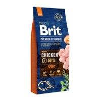 BRIT Premium By Nature Sport, Pui, hrană uscată câini, activitate intensă, 15kg