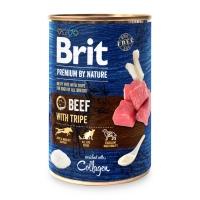 BRIT Premium By Nature, Vită și Burtă, pachet economic conservă hrană umedă fără cereale câini, (pate), 800g x 6