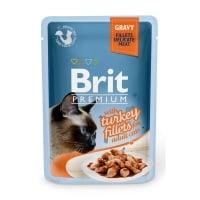 BRIT Premium, File Curcan, plic hrană umedă pisici, (în sos), 85g