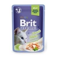 BRIT Premium, File Păstrăv, plic hrană umedă pisici, (în aspic), 85g