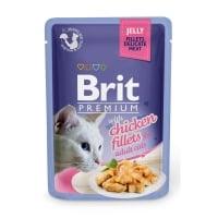 BRIT Premium, File Pui, plic hrană umedă pisici, (în aspic), 85g