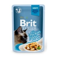 BRIT Premium, File Pui, plic hrană umedă pisici, (în sos), 85g