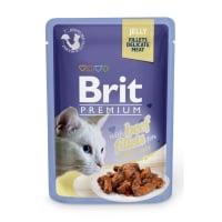 BRIT Premium, File Vită, plic hrană umedă pisici, (în aspic) 85g