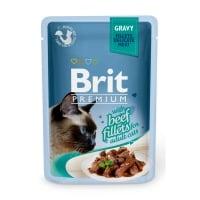 BRIT Premium, File Vită, plic hrană umedă pisici, (în sos), 85g