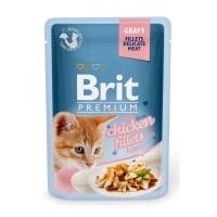 BRIT Premium Kitten, File Pui, plic hrană umedă pisici junior, (în sos), 85g