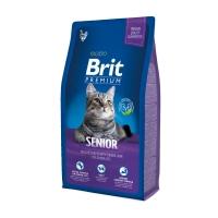 BRIT Premium Senior, Pui, pachet economic hrană uscată pisici senior, 8kg x 2
