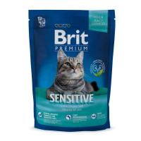 BRIT Premium Sensitive, Miel, hrană uscată pisici, sensibilități digestive, 800g