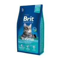 BRIT Premium Sensitive, Miel, pachet economic hrană uscată pisici, sensibilități digestive, 8kg x 2