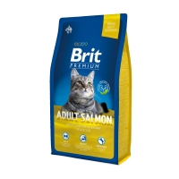 BRIT Premium, Somon, hrană uscată pisici, 8kg