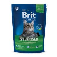 BRIT Premium Sterilised, Pui, hrană uscată pisici sterilizate, 800g