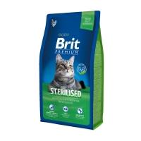 BRIT Premium Sterilised, Pui, pachet economic hrană uscată pisici sterilizate, 8kg x 2