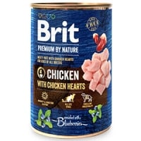 Pachet Brit Premium By Nature Chicken With Hearts 6x400 g