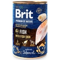 Brit Premium by Nature Fish with Fish Skin 400 g conserva