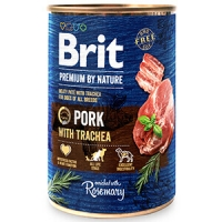 Pachet Brit Premium By Nature Pork With Trachea 6x800 g