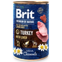 Pachet Brit Premium By Nature Turkey With Liver 6x400 g