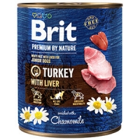 Pachet Brit Premium By Nature Turkey With Liver 6x800 g