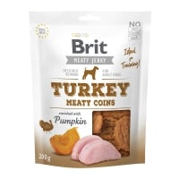 BRIT Jerky Turkey Meaty Coins, recompense câini, Rondele carne Curcan, 200 g
