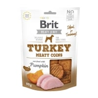 BRIT Jerky Turkey Meaty Coins, recompense câini, Rondele carne Curcan, 80g