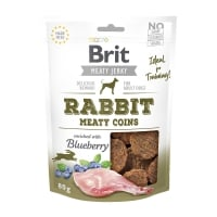 BRIT Jerky Rabbit Meaty Coins, recompense câini, Rondele carne Iepure, 80g