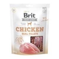 BRIT Jerky Chicken Fillets, recompense câini, File deshidratat Pui, 200g