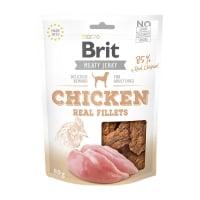 BRIT Jerky Chicken Fillets, recompense câini, File deshidratat Pui, 80g