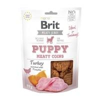 BRIT Jerky Puppy Turkey Meaty Coins, recompense câini junior, Banuti Rondele carne Curcan, 80g