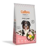 CALIBRA Premium Line Junior L, Pui, pachet economic hrană uscată câini junior, 12kg x 2
