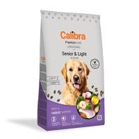 CALIBRA Premium Line Senior & Light, Pui, pachet economic hrană uscată câini senior, 12kg x 2