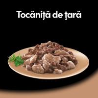 CESAR Tocăniță de țară, Curcan, Vită și Ierburi, taviță hrană umedă câini, (în suc propriu), 150g