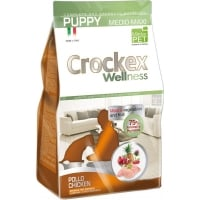 Crockex Wellness Dog Puppy, Med-Max, Pui Si Orez, 12 kg