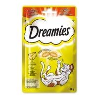 DREAMIES, recompense pisici, pernuțe umplute cu brânză, 60g