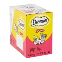 DREAMIES, recompense pisici, pernuțe umplute cu vită, 60g
