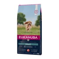 EUKANUBA Basic Adult S-M, Somon și Orz, hrană uscată câini, 12kg
